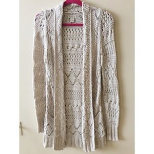 Lucky Brand Off White Cardigan Sweater
